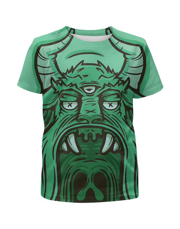 Футболка с полной запечаткой для девочек Printio Демон футболка с полной запечаткой мужская printio mikhail vrubel демон сидящий