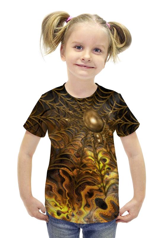 Футболка с полной запечаткой для девочек Printio Паутина футболка с полной запечаткой для девочек printio пртигр arsb