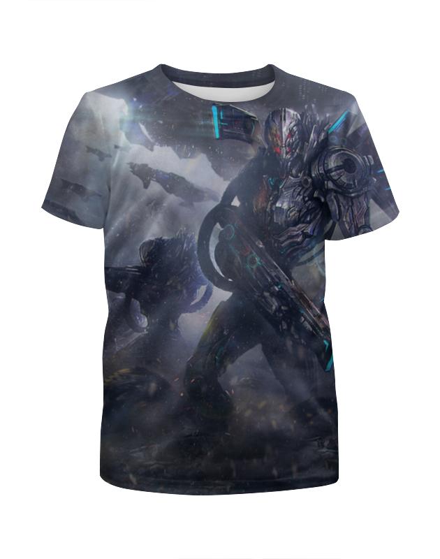 Футболка с полной запечаткой для девочек Printio Инопланетный солдат футболка с полной запечаткой для девочек printio солдат battlefield