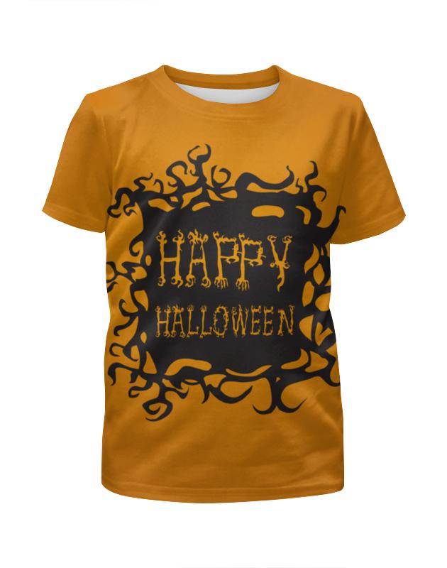 Фото - Футболка с полной запечаткой для девочек Printio Happy halloween hot sale happy halloween pumpkin face pattern pillow case