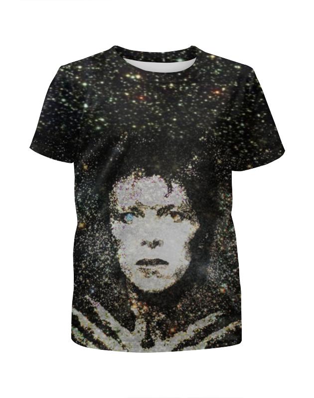 Футболка с полной запечаткой для девочек Printio Дэвид боуи «человек со звезд» футболка с полной запечаткой мужская printio дэвид боуи человек со звезд