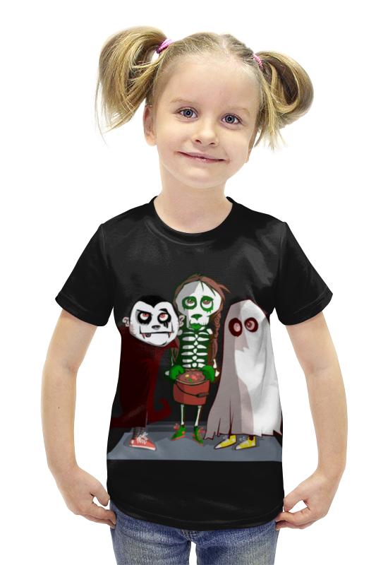 Футболка с полной запечаткой для девочек Printio Монстрики футболка с полной запечаткой для девочек printio пртигр arsb
