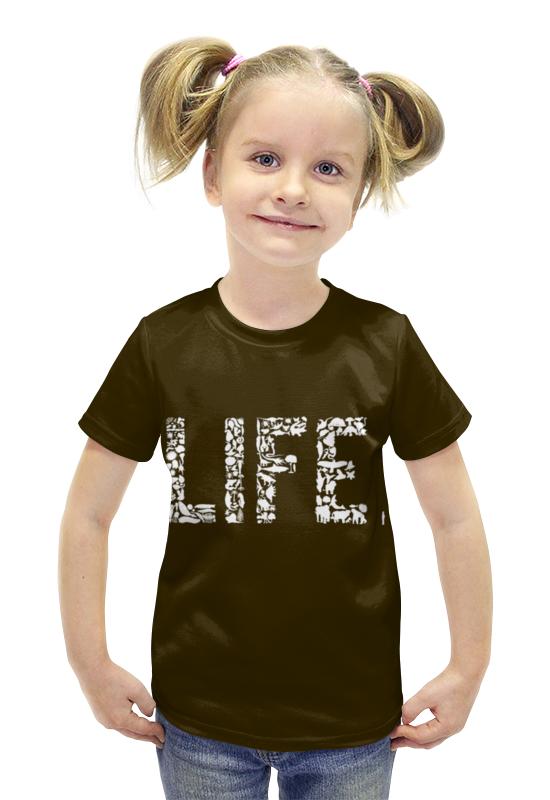 Футболка с полной запечаткой для девочек Printio Life. футболка с полной запечаткой для девочек printio пртигр arsb