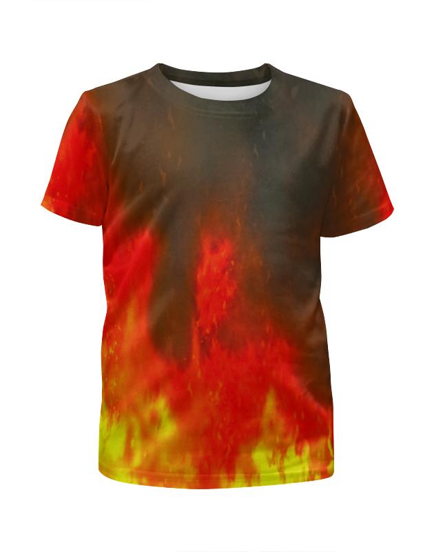 Футболка с полной запечаткой для девочек Printio Огонь футболка с полной запечаткой для девочек printio синий огонь