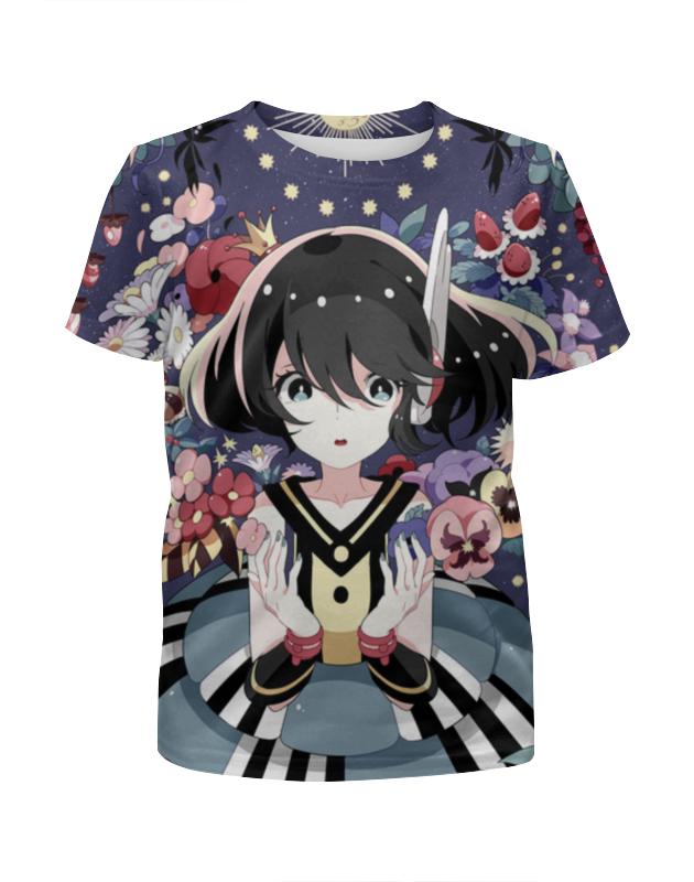 Футболка с полной запечаткой для девочек Printio Аниме девушки футболка для девушки