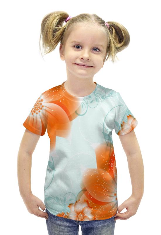 Футболка с полной запечаткой для девочек Printio Цветы футболка с полной запечаткой для девочек printio spawn