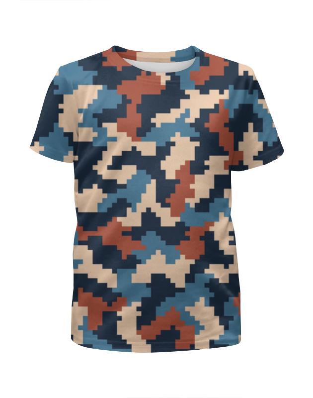 Printio Цветной камуфляж футболка с полной запечаткой для девочек printio модный камуфляж
