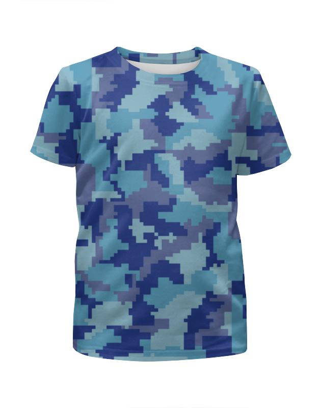 Футболка с полной запечаткой для девочек Printio Голубые пиксели футболка с полной запечаткой для девочек printio щенок