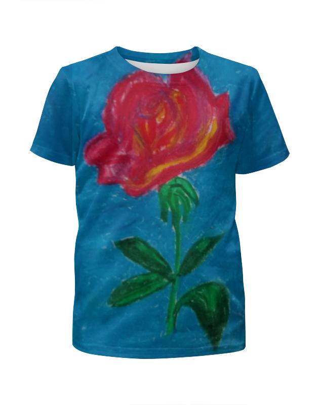 Футболка с полной запечаткой для девочек Printio Алая роза футболка с полной запечаткой мужская printio распускающаяся роза