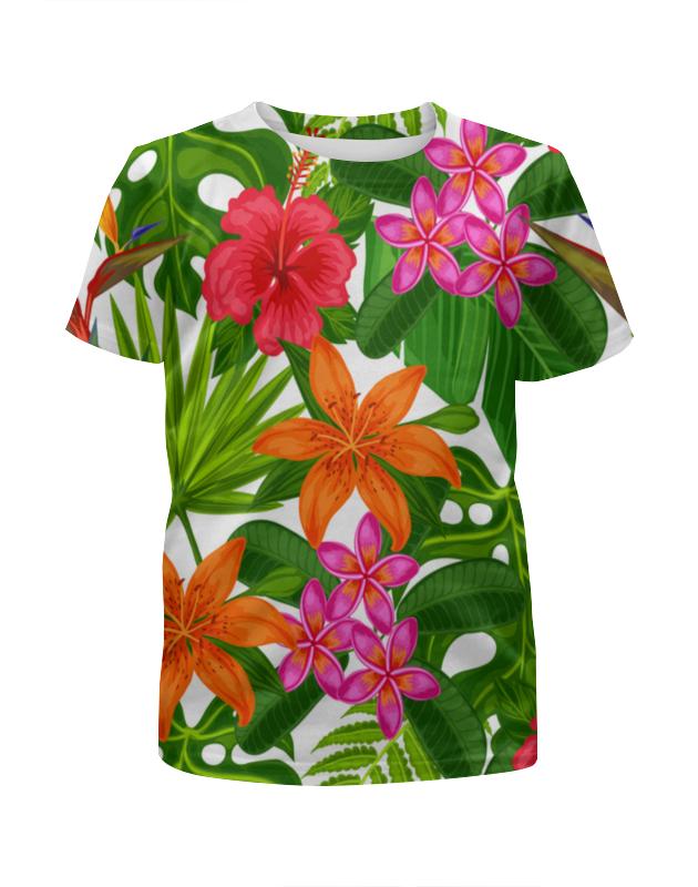 Футболка с полной запечаткой для девочек Printio Тропики футболка с полной запечаткой для девочек printio пес летчик