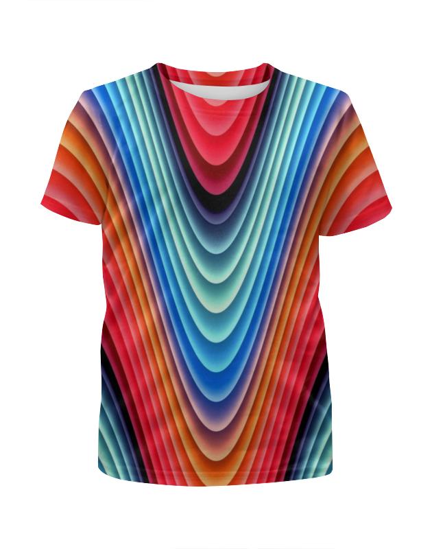 Футболка с полной запечаткой для девочек Printio Яркие линии футболка с полной запечаткой мужская printio яркие линии