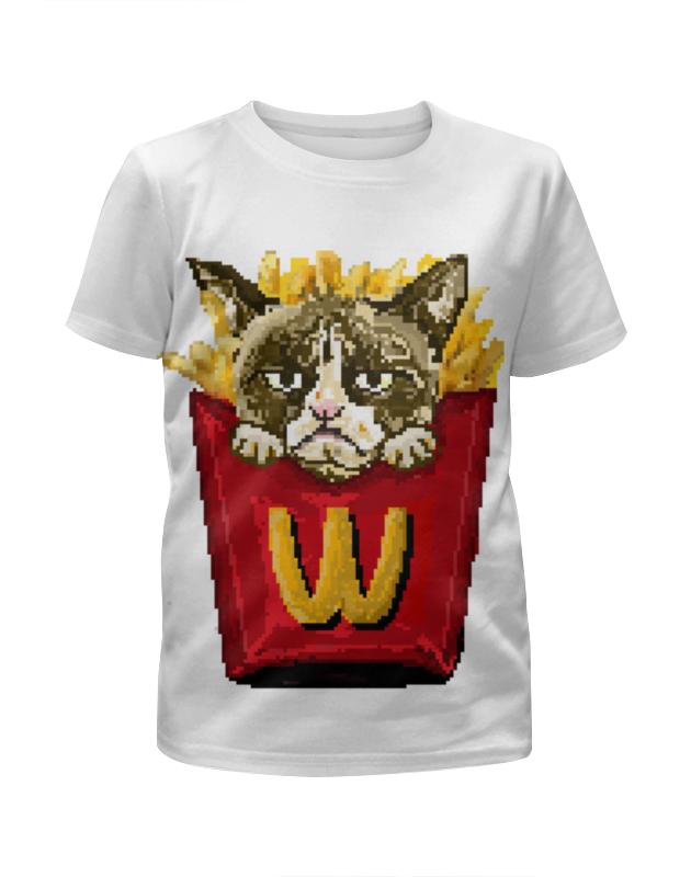 Футболка с полной запечаткой для девочек Printio Grumpy cat футболка с полной запечаткой мужская printio grumpy cat