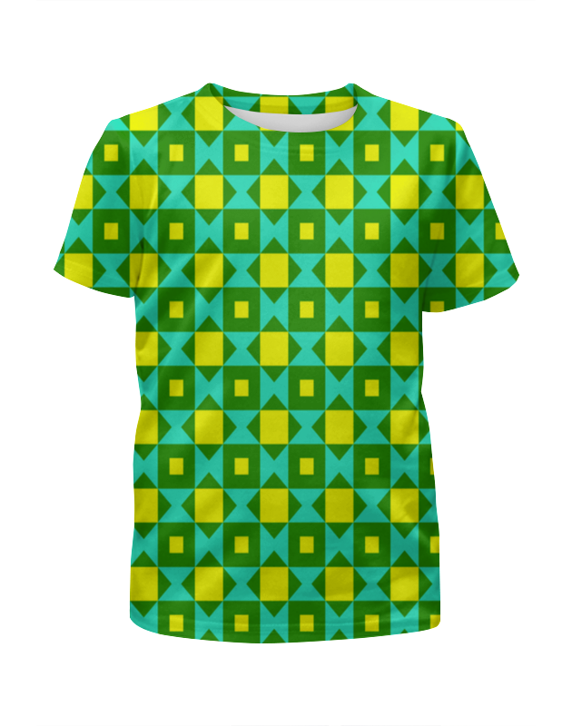 Футболка с полной запечаткой для девочек Printio Графический узор футболка с полной запечаткой для девочек printio spawn