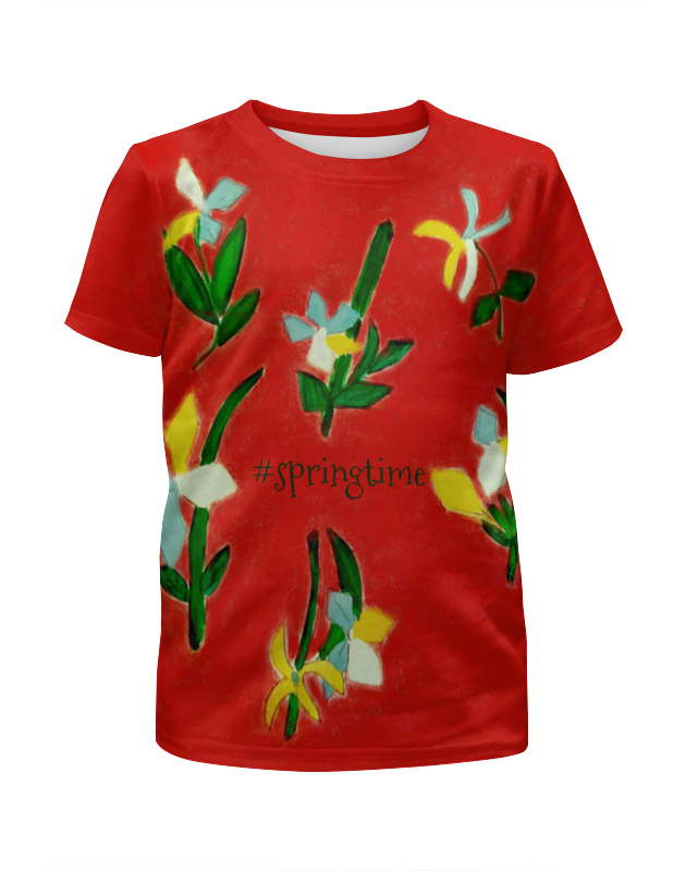 Футболка с полной запечаткой для девочек Printio Весна, весна юбка карандаш printio весна весна