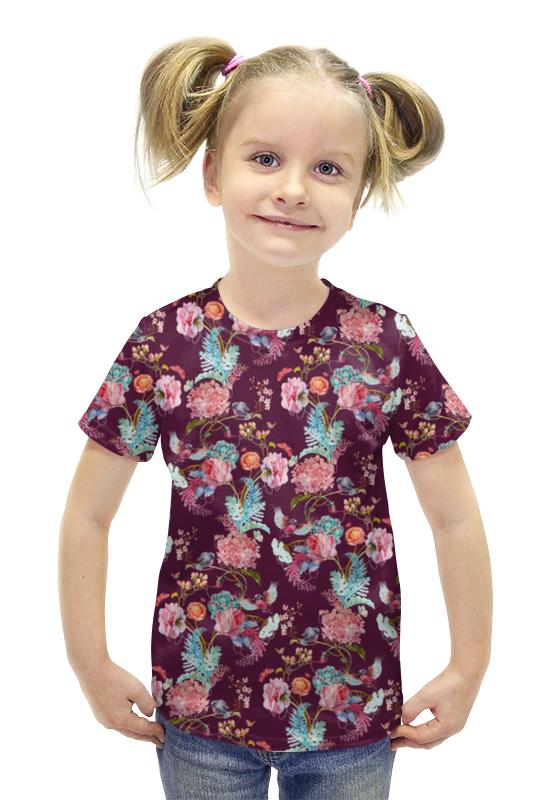 Футболка с полной запечаткой для девочек Printio Цветы футболка с полной запечаткой для девочек printio пртигр arsb