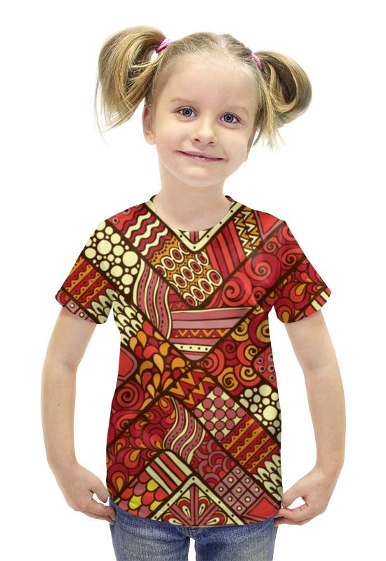 Футболка с полной запечаткой для девочек Printio Узоры футболка с полной запечаткой для девочек printio пртигр arsb
