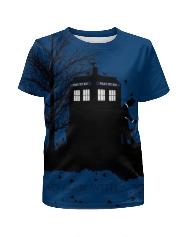 Футболка с полной запечаткой для девочек Printio Доктор кто , doctor who футболка рингер printio доктор кто doctor who