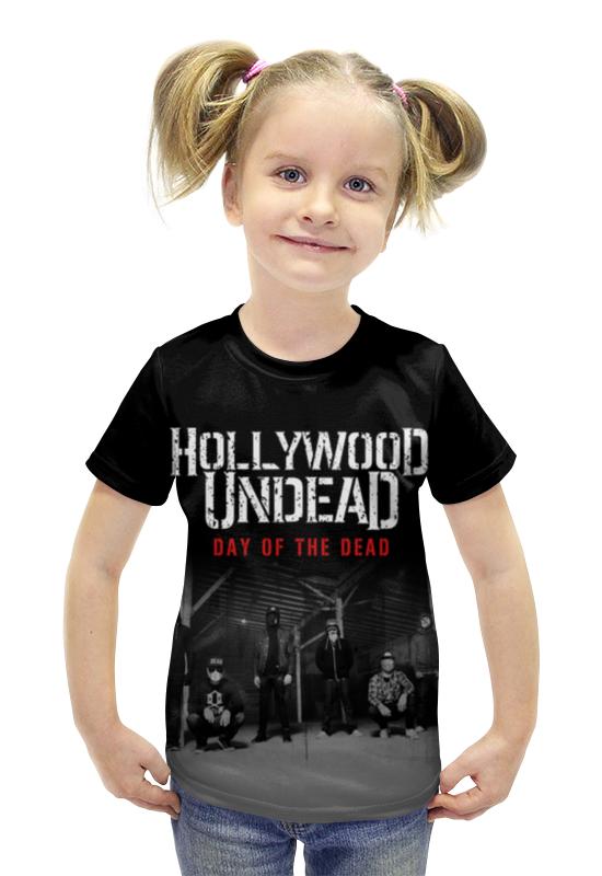 Футболка с полной запечаткой для девочек Printio Hollywood undead - day of the dead футболка стрэйч printio hollywood undead