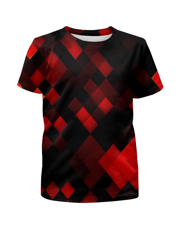 Футболка с полной запечаткой для девочек Printio Квадратики футболка с полной запечаткой для девочек printio пртигр arsb