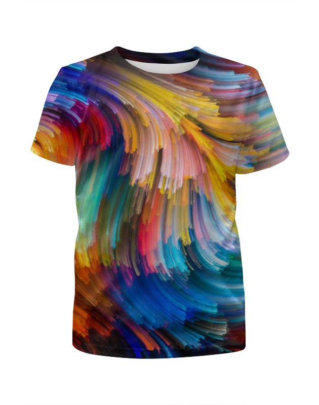 Футболка с полной запечаткой для девочек Printio Краски футболка с полной запечаткой для девочек printio жидкие краски