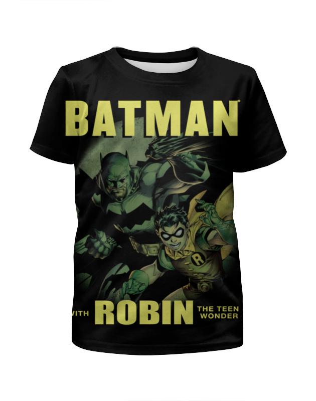 Футболка с полной запечаткой для девочек Printio Бэтмен и робин футболка с полной запечаткой для девочек printio batman x joker бэтмен