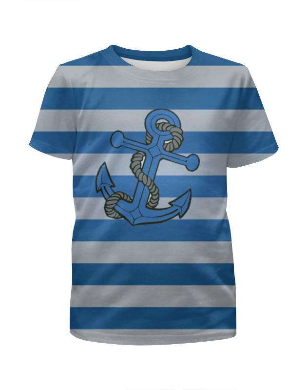 Футболка с полной запечаткой для девочек Printio Якорь футболка с полной запечаткой для девочек printio синий огонь