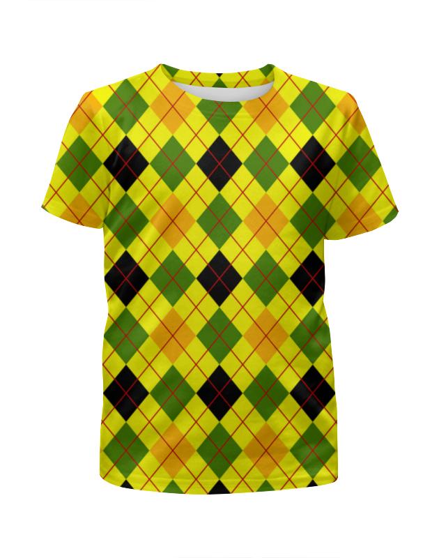 Футболка с полной запечаткой для девочек Printio Клетка желтая футболка желтая мужская