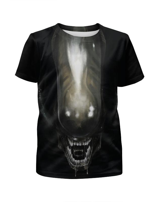 Футболка с полной запечаткой для девочек Printio Alien / чужой футболка для беременных printio чужой
