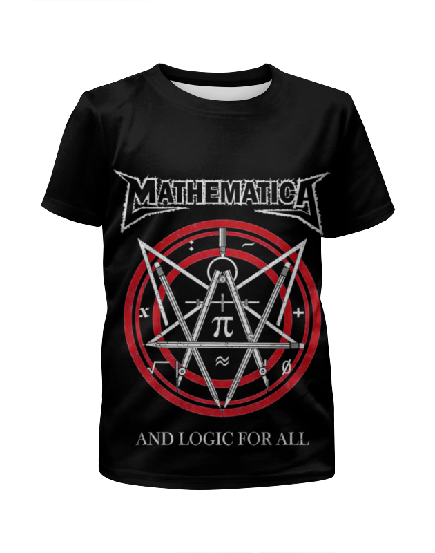 Футболка с полной запечаткой для девочек Printio Metallica (mathematica) statistics with mathematica