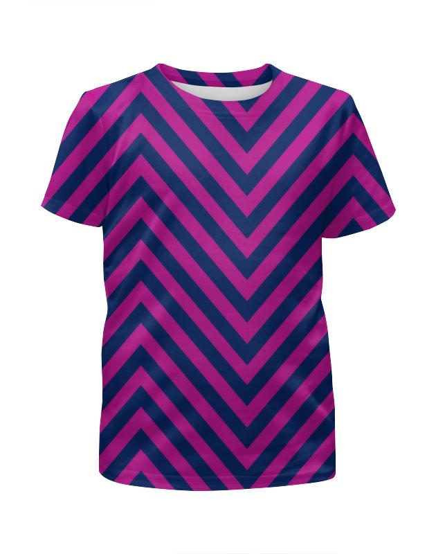 Футболка с полной запечаткой для девочек Printio Фиолетовые полосы футболка с полной запечаткой для девочек printio пртигр arsb