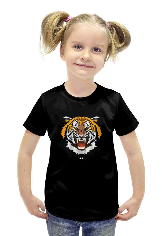 Футболка с полной запечаткой для девочек Printio Охрана-тигр футболка с полной запечаткой для девочек printio пртигр arsb