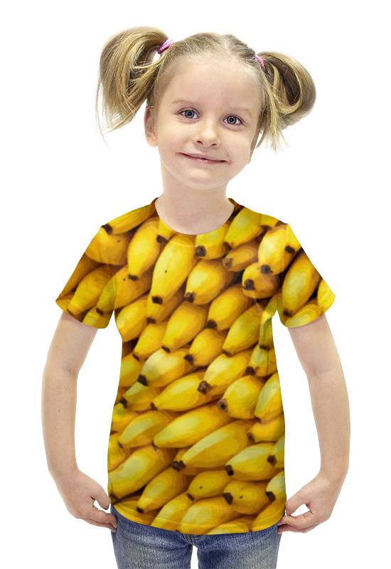 Футболка с полной запечаткой для девочек Printio Бананы 3d