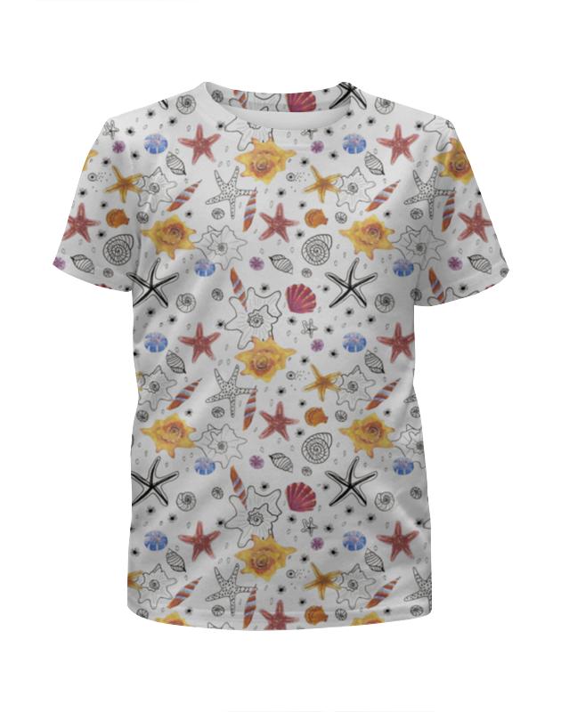 Футболка с полной запечаткой для девочек Printio Shells платья для девочек