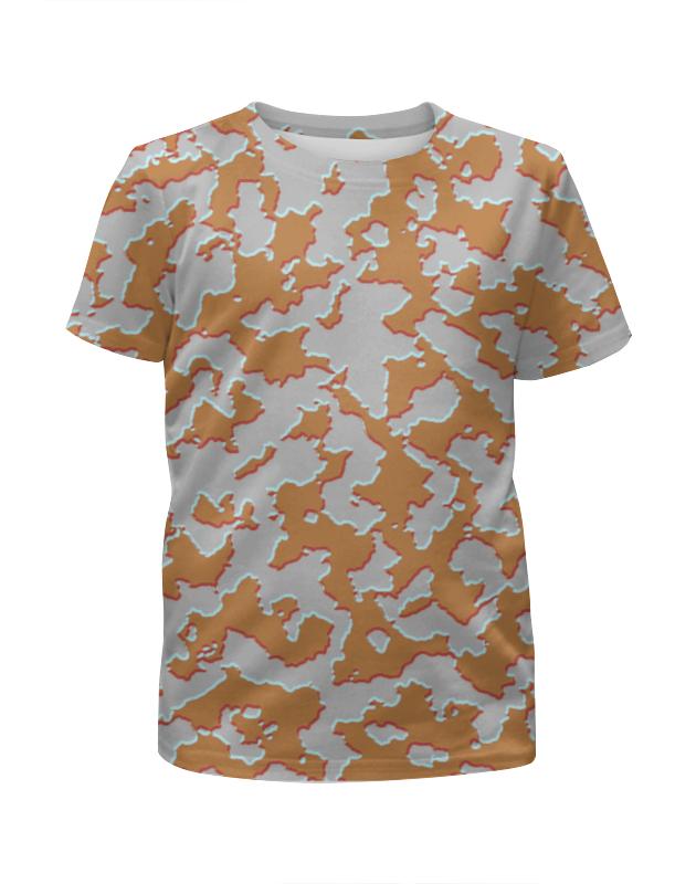 Футболка с полной запечаткой для девочек Printio Мультицвет камуфляж футболка камуфляж