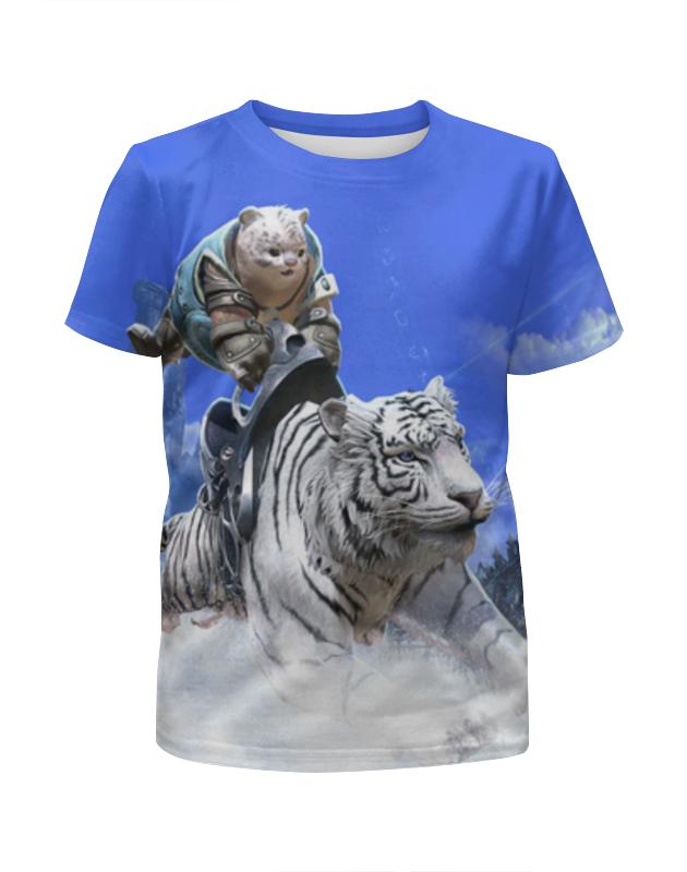Футболка с полной запечаткой для девочек Printio Белый тигр футболка с полной запечаткой для девочек printio spawn