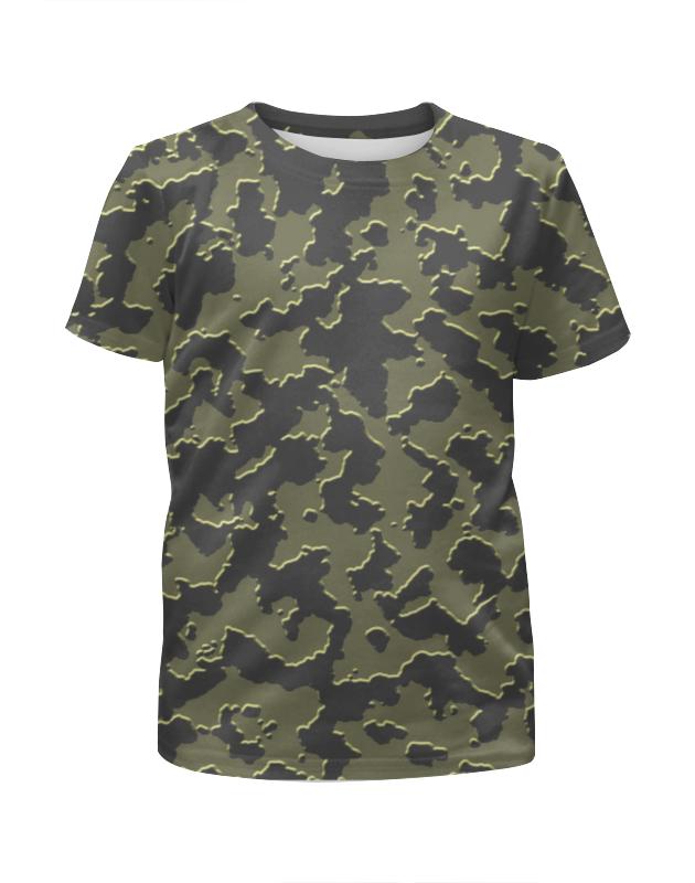 Футболка с полной запечаткой для девочек Printio Мультицвет камуфляж футболка с полной запечаткой для девочек printio серо коричневый камуфляж