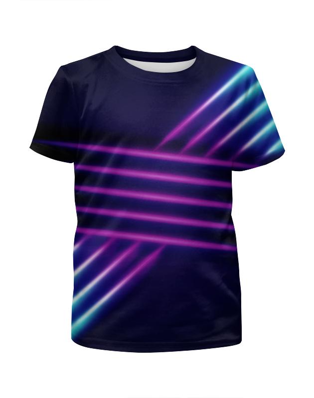 Футболка с полной запечаткой для девочек Printio Абстрактные линии футболка с полной запечаткой для девочек printio узор линии