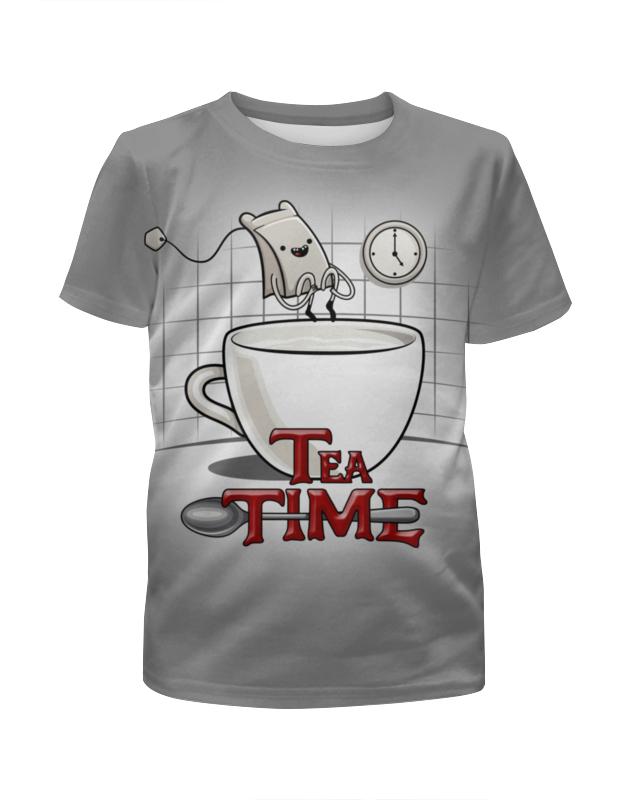 Футболка с полной запечаткой для девочек Printio Время чая футболка с полной запечаткой для девочек printio пртигр arsb