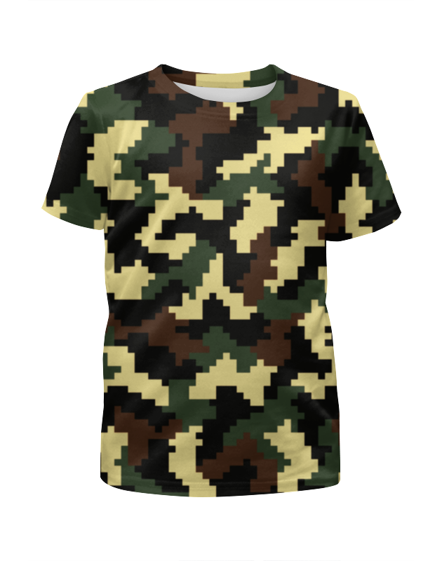 Футболка с полной запечаткой для девочек Printio Camouflage style xintown camouflage winter long sleeved