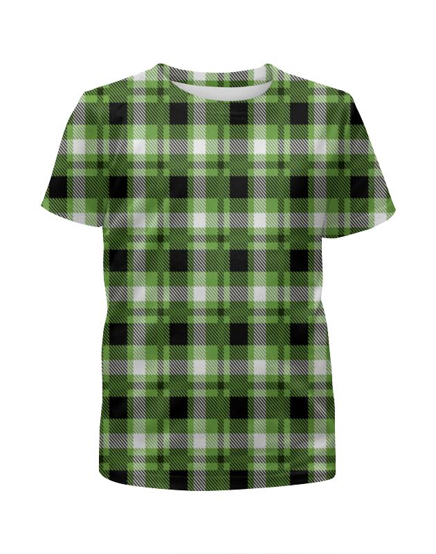 Футболка с полной запечаткой для девочек Printio Зеленая клетка футболка с полной запечаткой для девочек printio пртигр arsb