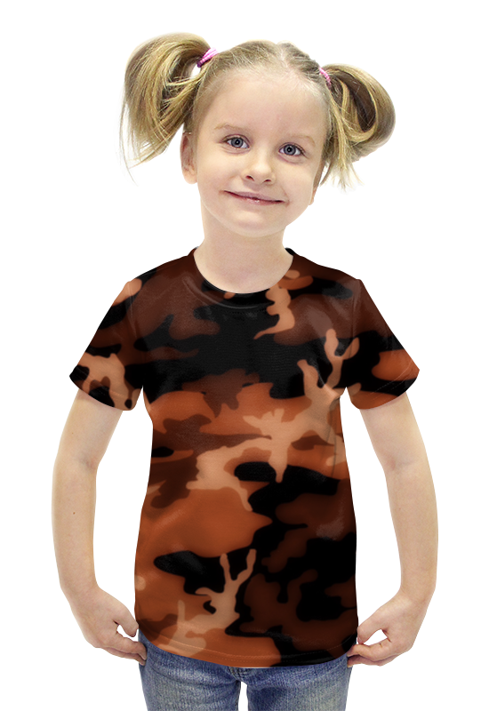 Футболка с полной запечаткой для девочек Printio Комуфляж футболка с полной запечаткой для девочек printio spawn