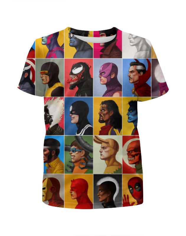 Футболка с полной запечаткой для девочек Printio Marvel heroes футболка с полной запечаткой для девочек printio marvel art