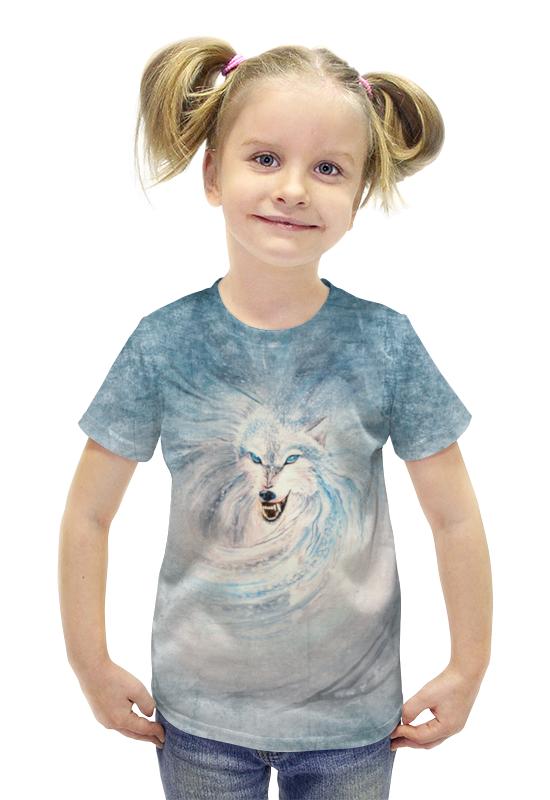 Футболка с полной запечаткой для девочек Printio Волк-зима футболка с полной запечаткой для девочек printio война миров z