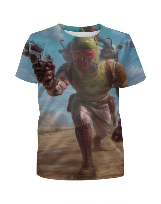 Футболка с полной запечаткой для девочек Printio Боба фетт (звездные войны) футболка с полной запечаткой для девочек printio звездные войны r2 d2