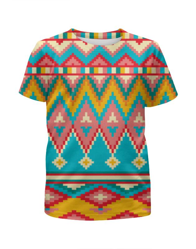 Футболка с полной запечаткой для девочек Printio Этнический узор футболка с полной запечаткой для девочек printio волнистый узор