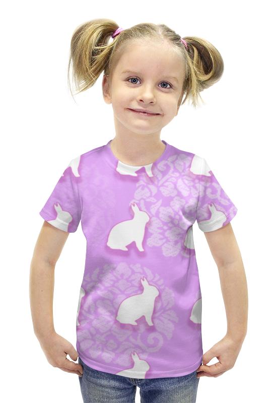 Футболка с полной запечаткой для девочек Printio Зайцы футболка с полной запечаткой для девочек printio пртигр arsb