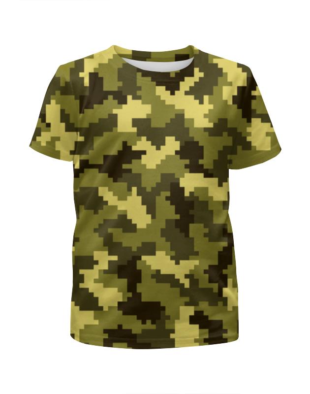 Футболка с полной запечаткой для девочек Printio Камуфляж-поле футболка с полной запечаткой для девочек printio камуфляж