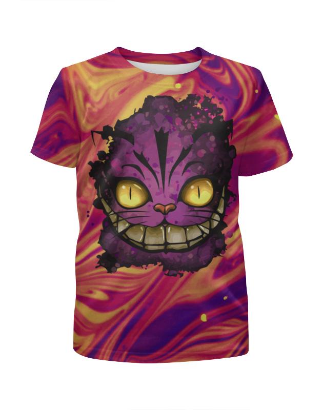 Printio Чеширский кот футболка с полной запечаткой для девочек printio чеширский кот