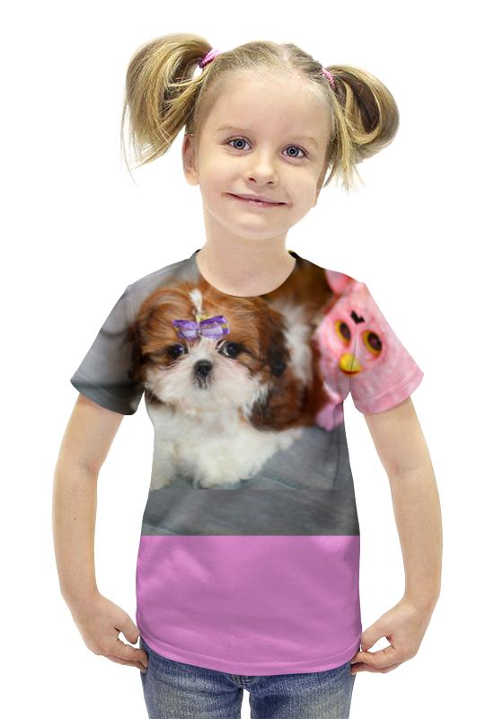 Футболка с полной запечаткой для девочек Printio Sweet puppy футболка с полной запечаткой для девочек printio щенок