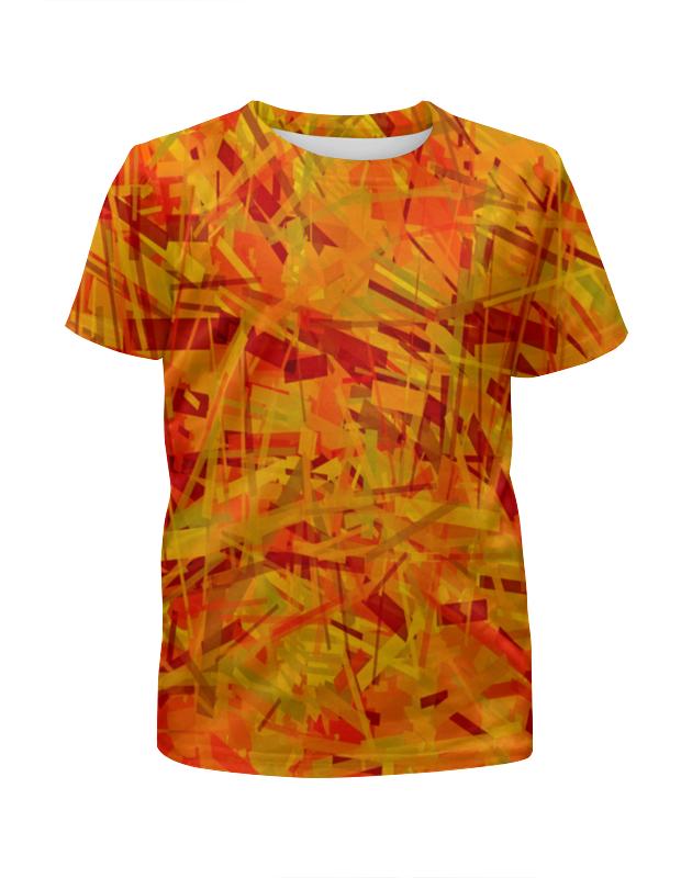 Футболка с полной запечаткой для девочек Printio Желтые полосы футболка с полной запечаткой для девочек printio пртигр arsb